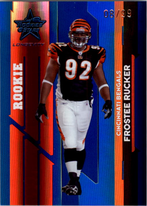 2006 Leaf Rookies and Stars Longevity Target Sapphire Parallel #133 Frostee Rucker