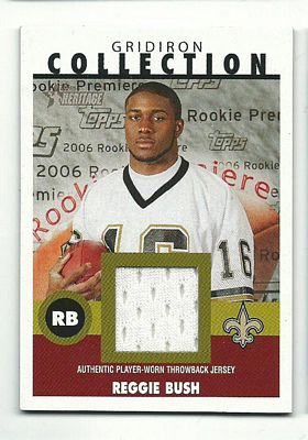 2006 Topps Heritage Gridiron Collection Jersey #GCRB Reggie Bush