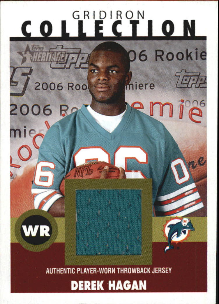 2006 Topps Heritage Gridiron Collection Jersey #GCDH Derek Hagan