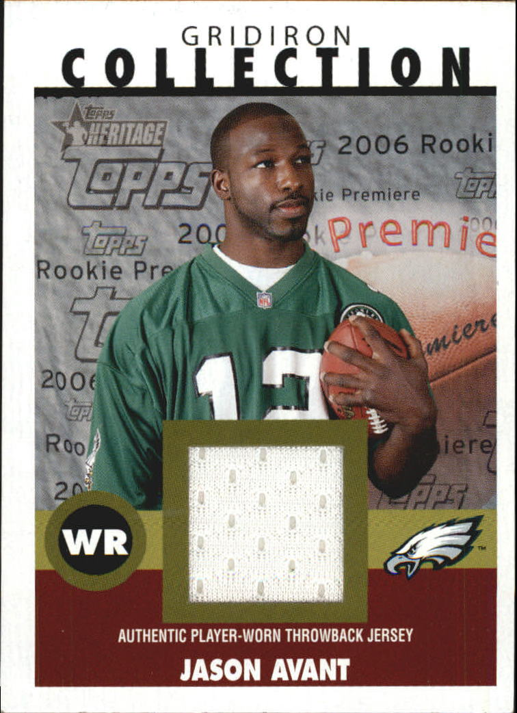2006 Topps Heritage Gridiron Collection Jersey #GCJA Jason Avant