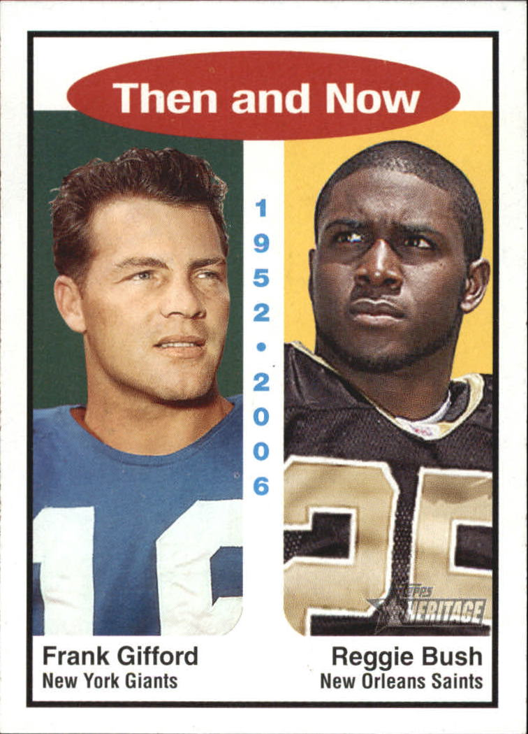 2006 Topps Heritage Then and Now #TN1 Reggie Bush/Frank Gifford