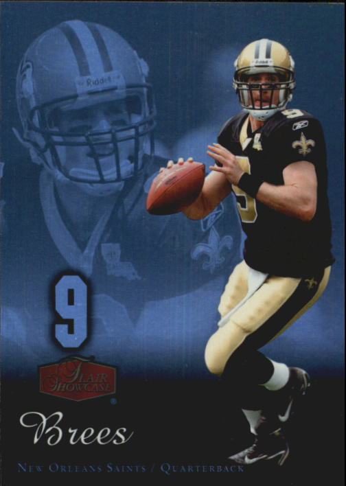 2006 Flair Showcase #60 Drew Brees