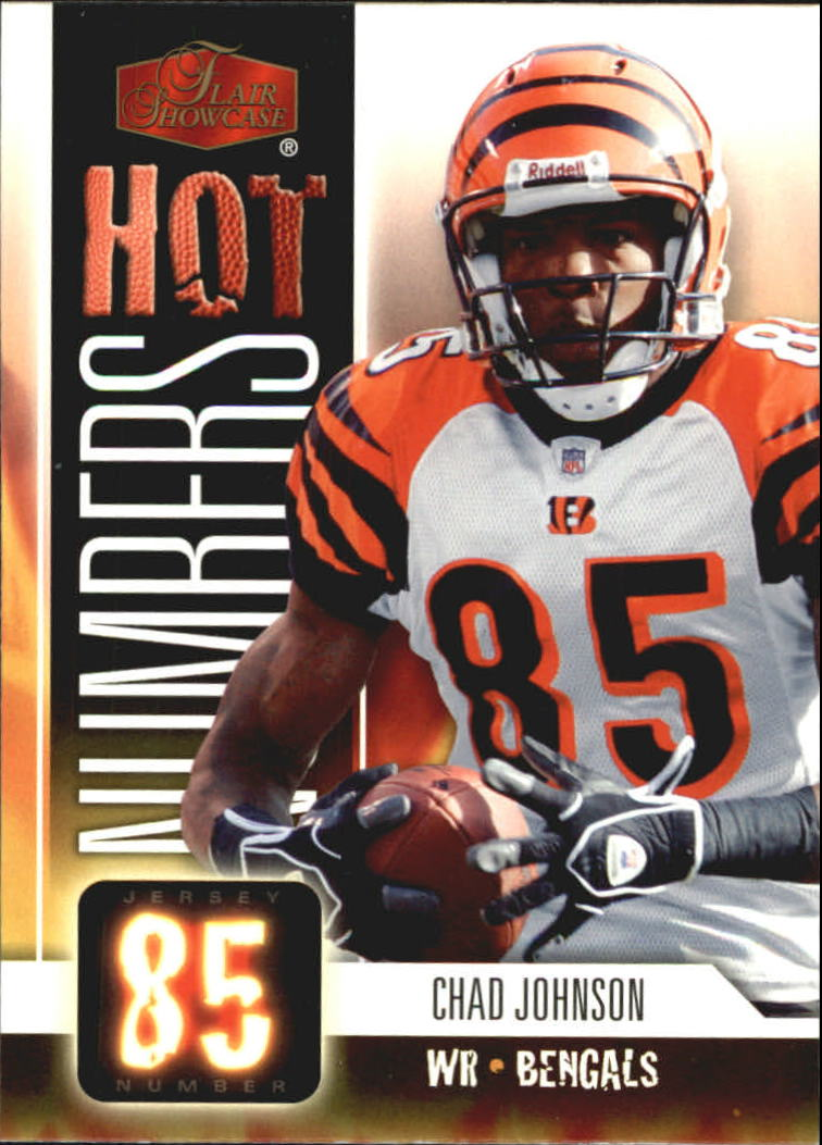 2006 Flair Showcase Hot Numbers #HN7 Chad Johnson