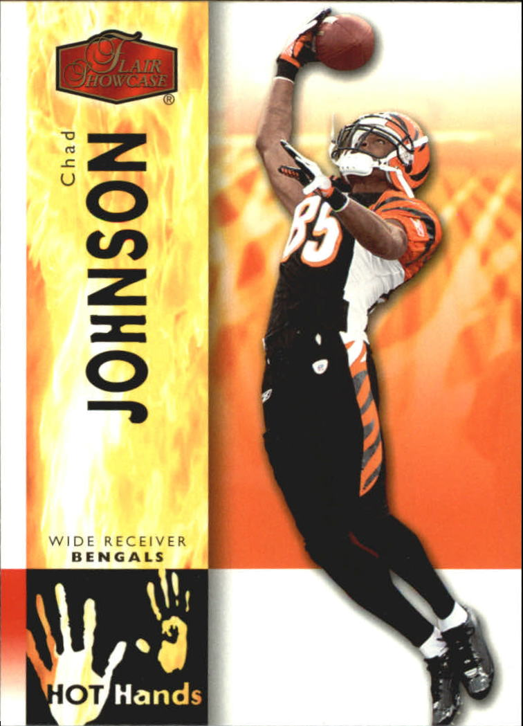 2006 Flair Showcase Hot Hands #HH4 Chad Johnson