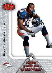 2006 Flair Showcase Clear Path to Greatness #CPTG3 Brandon Marshall