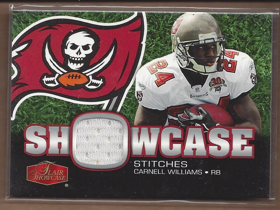 2006 Flair Showcase Showcase Stitches Jersey #SHSCW Cadillac Williams