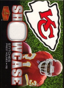 2006 Flair Showcase Showcase Stitches Jersey #SHSPH Priest Holmes