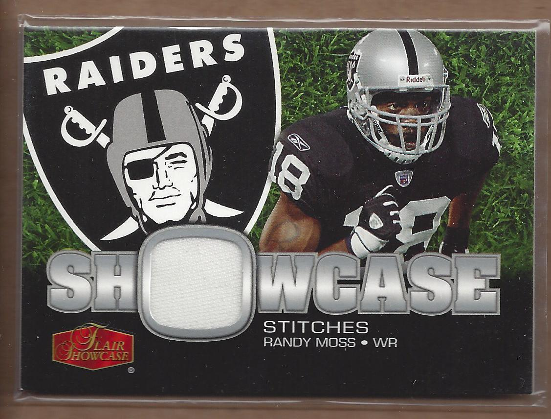 2006 Flair Showcase Showcase Stitches Jersey #SHSRM Randy Moss