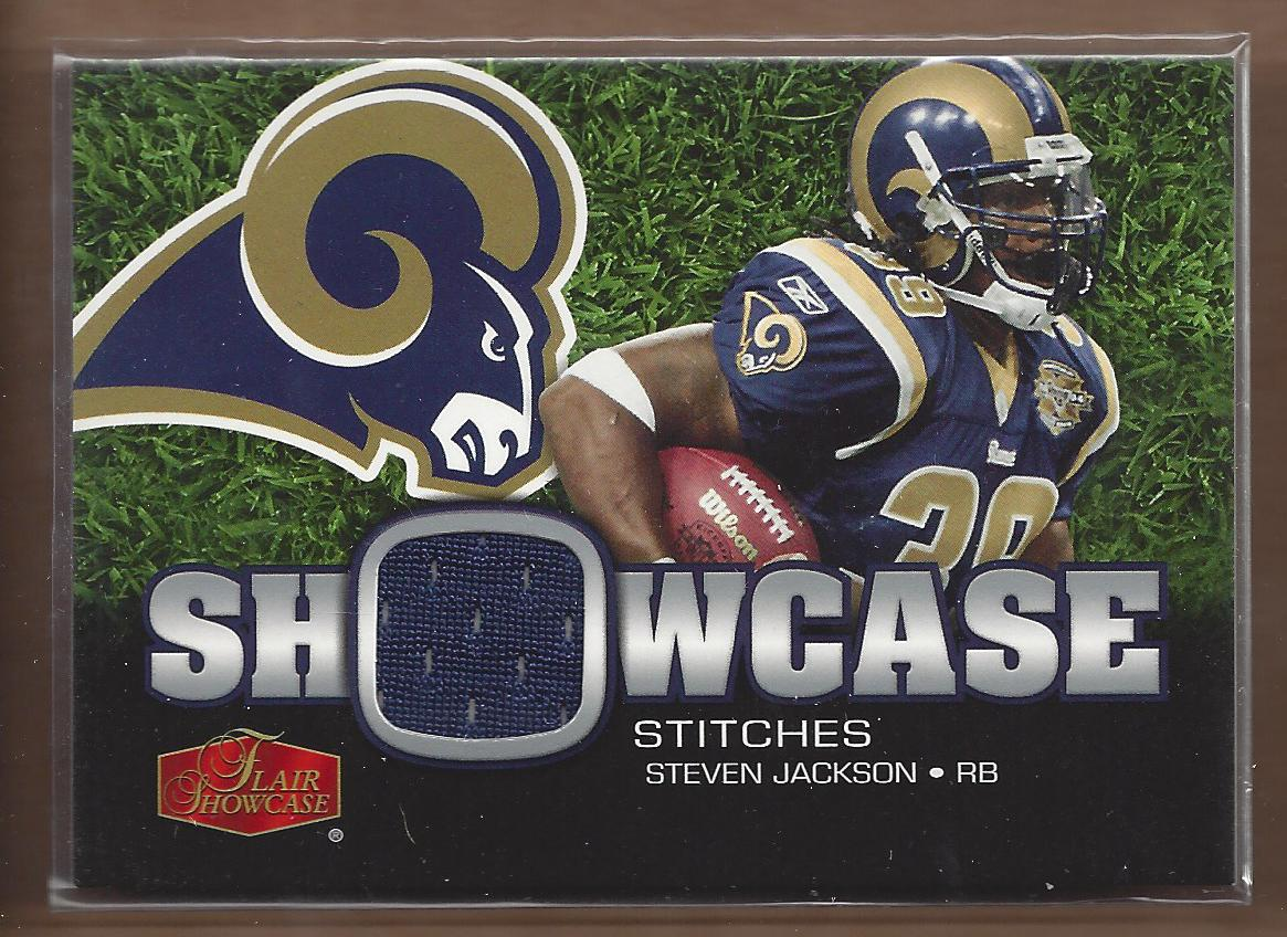 2006 Flair Showcase Showcase Stitches Jersey #SHSSJ Steven Jackson