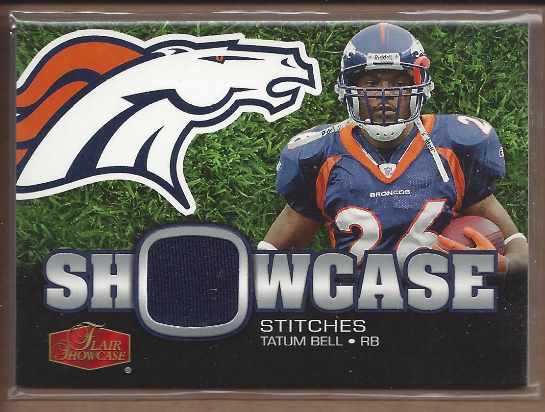 2006 Flair Showcase Showcase Stitches Jersey #SHSTB Tatum Bell