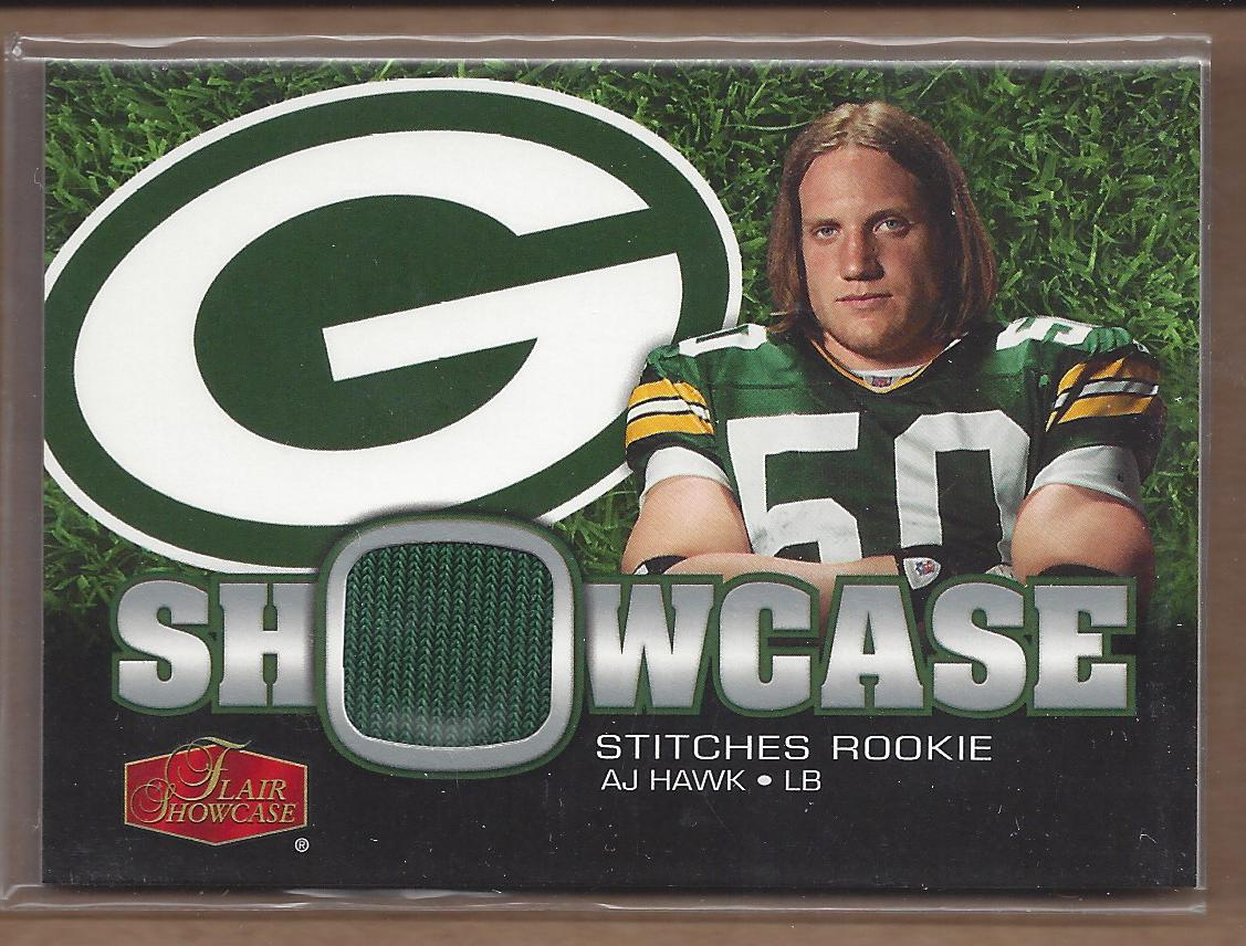 2006 Flair Showcase Showcase Stitches Jersey #SHSAH A.J. Hawk