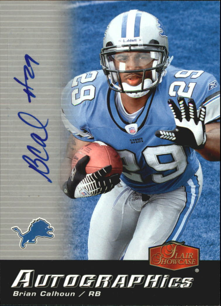 2006 Flair Showcase Autographics #AUBC Brian Calhoun