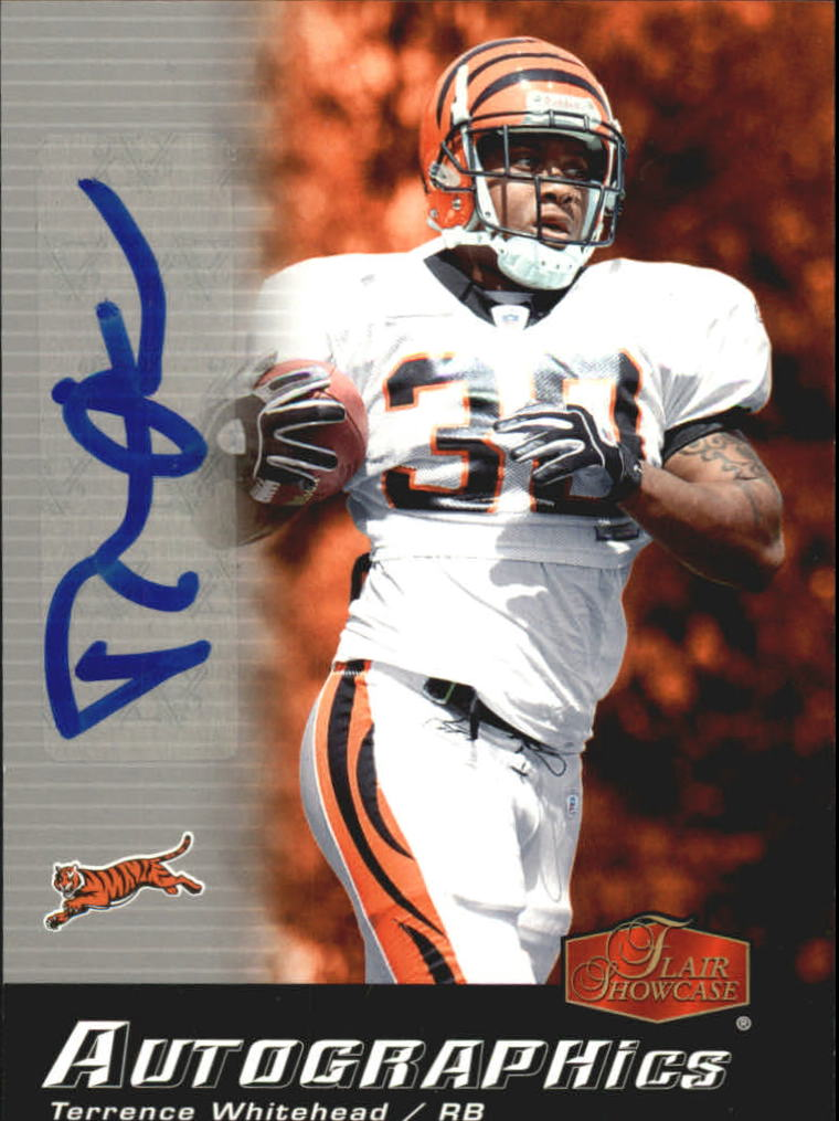 2006 Flair Showcase Autographics #AUTW Terrence Whitehead