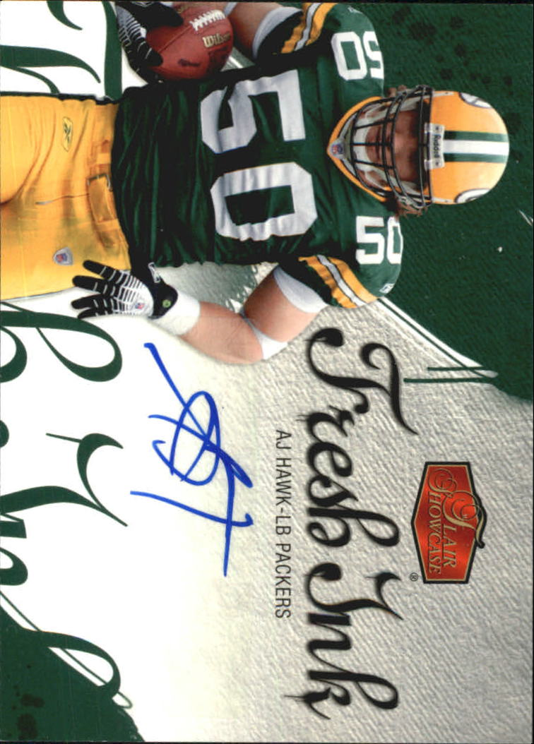 2006 Flair Showcase Fresh Ink #FIAH A.J. Hawk