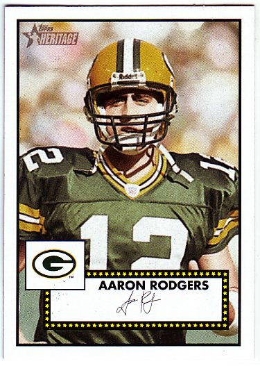 2006 Topps Heritage Black Backs #35 Aaron Rodgers