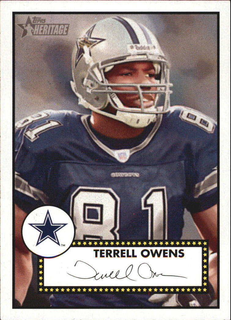 2006 Topps Heritage Black Backs #48 Terrell Owens