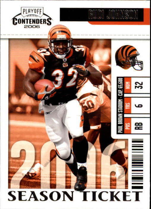 2006 Playoff Contenders #20 Rudi Johnson