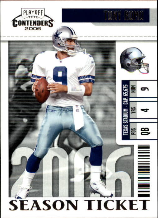 2006 Playoff Contenders #25 Tony Romo