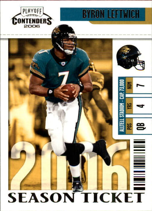 2006 Playoff Contenders #46 Byron Leftwich