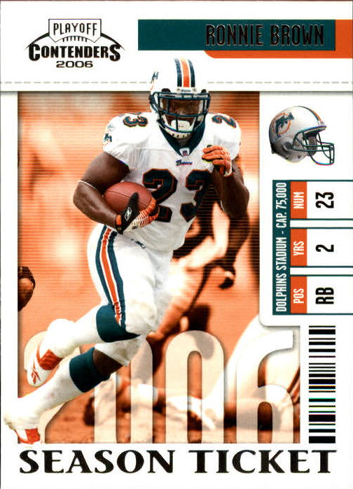 2006 Playoff Contenders #54 Ronnie Brown