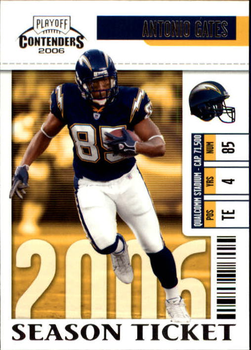 2006 Playoff Contenders #78 Antonio Gates