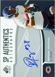 2006 SP Authentic Autographs #SPDM Danieal Manning