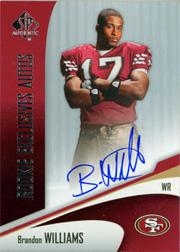 2006 SP Authentic Rookie Exclusives Autographs #REABW Brandon Williams