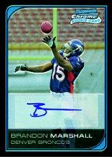 2006 Bowman Chrome Rookie Autographs #253 Brandon Marshall D