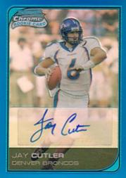 2006 Bowman Chrome Rookie Autographs Blue Refractors #222 Jay Cutler