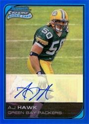 2006 Bowman Chrome Rookie Autographs Blue Refractors #226 A.J. Hawk