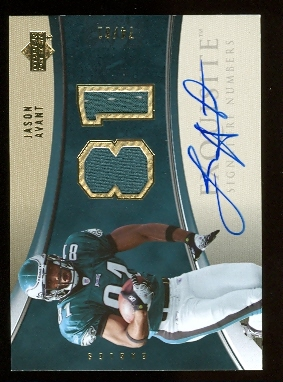 2006 Exquisite Collection Signature Numbers #ESNJA Jason Avant/81