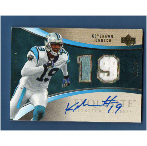 2006 Exquisite Collection Signature Numbers #ESNKJ Keyshawn Johnson/19