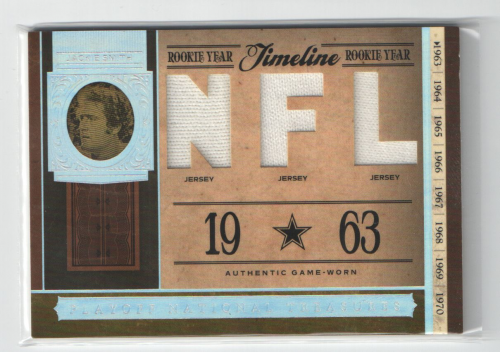 2006 Playoff National Treasures Timeline Material NFL #JSM Jackie Smith/99