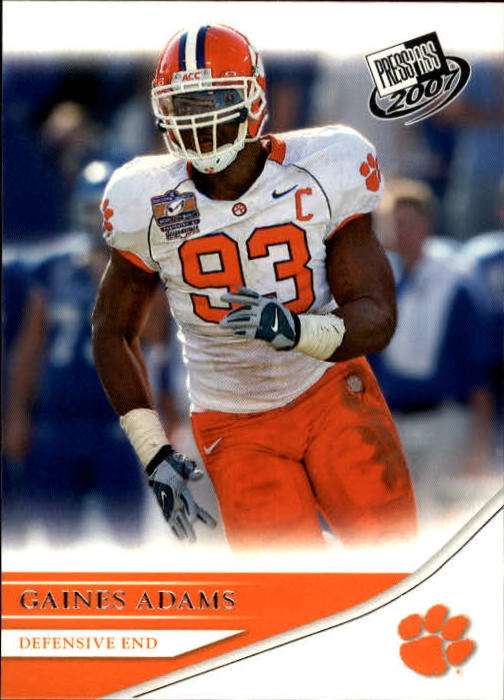 2007 Press Pass #23 Gaines Adams