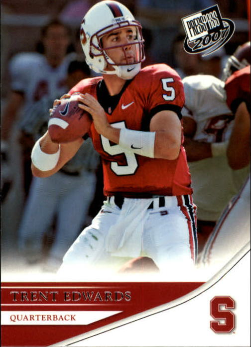 2007 Press Pass #32 Trent Edwards