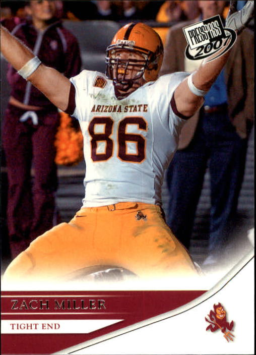 2007 Press Pass #39 Zach Miller