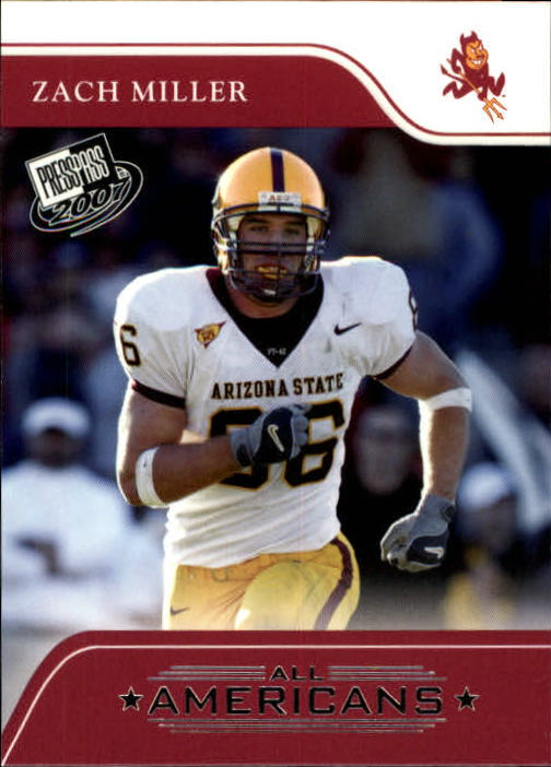 2007 Press Pass #81 Zach Miller AA