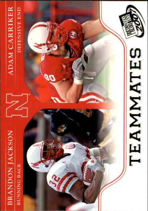 2007 Press Pass #92 B.Jackson/A.Carriker TM
