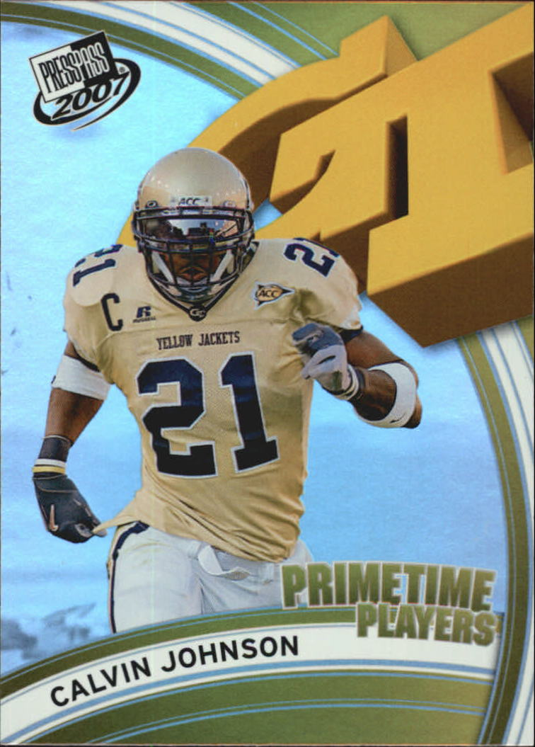 2007 Press Pass Primetime Players #11 Calvin Johnson