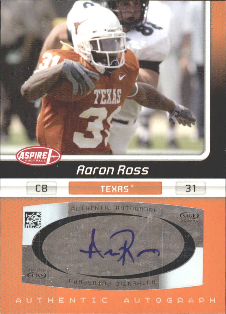2007 Aspire Autographs #33 Aaron Ross