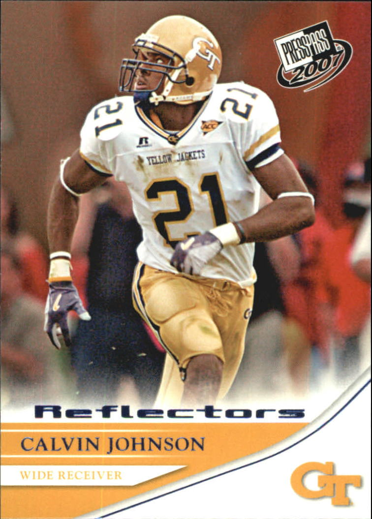 2007 Press Pass Reflectors Blue #18 Calvin Johnson