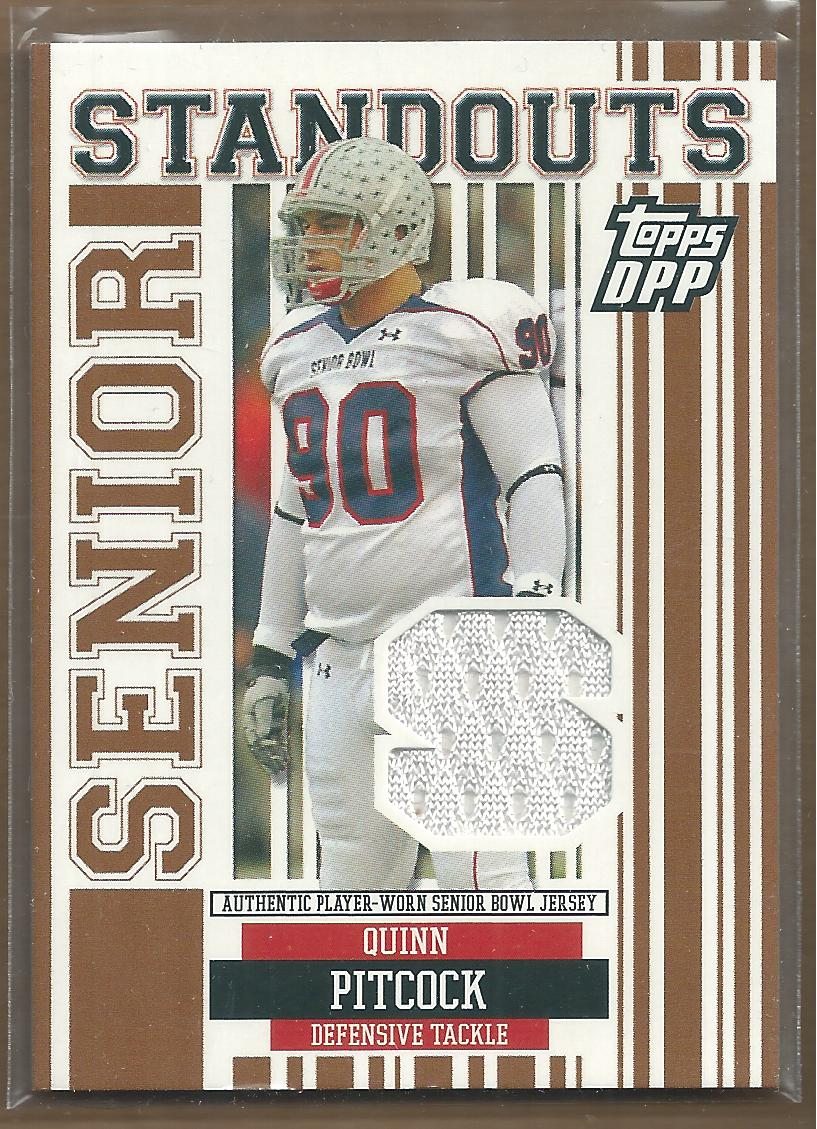 2007 Topps Draft Picks and Prospects Senior Standout Jersey #QP Quinn Pitcock