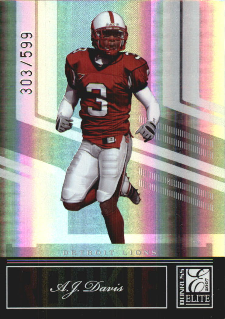 2007 Donruss Elite #101 A.J. Davis RC