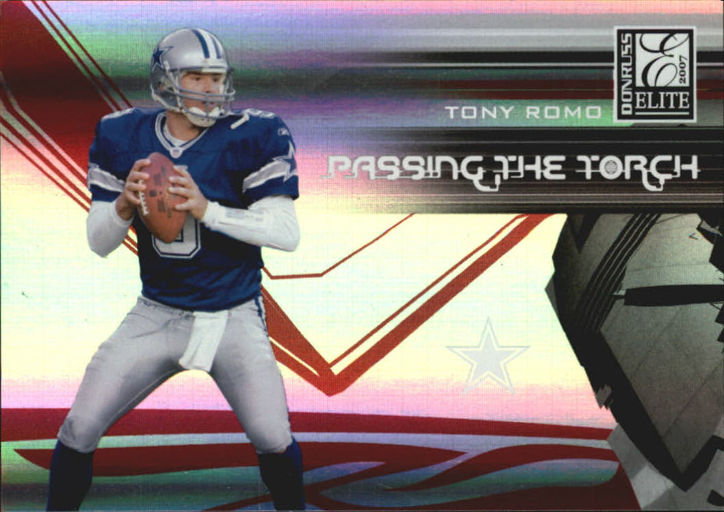 2007 Donruss Elite Passing the Torch Red #4 Tony Romo