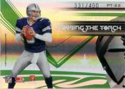 2007 Donruss Elite Passing the Torch Green #22 Troy Aikman/Tony Romo