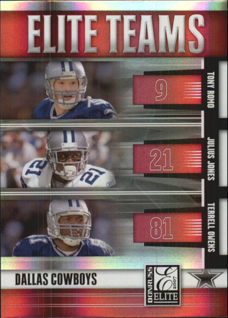 2007 Donruss Elite Teams Red #8 Tony Romo/Julius Jones/Terrell Owens