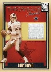 2007 Donruss Elite Throwback Threads #18 Tony Romo/175
