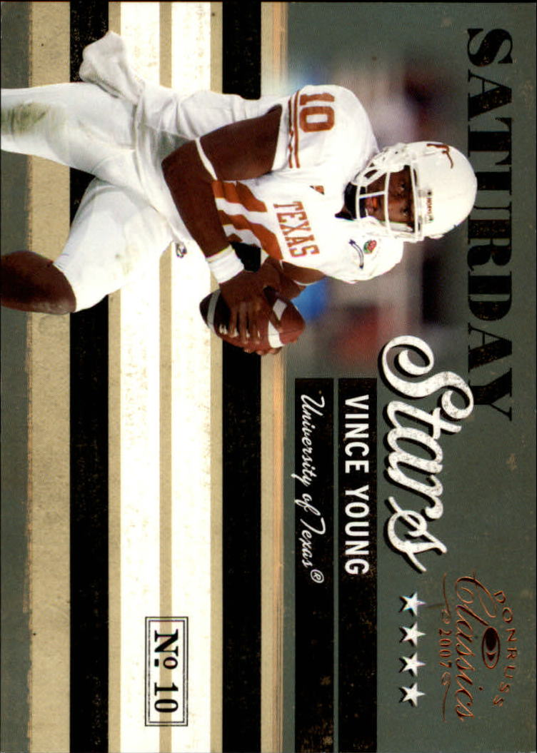2007 Donruss Classics Saturday Stars Bronze #14 Vince Young