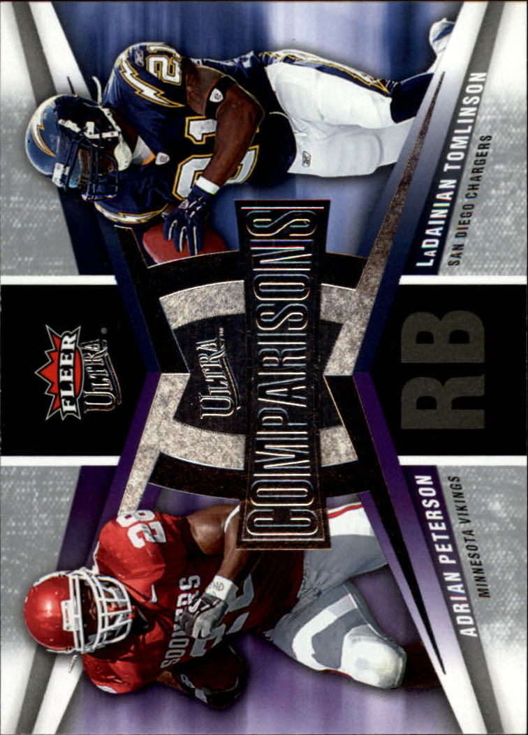 2007 Ultra Comparisons #PT Adrian Peterson/LaDainian Tomlinson