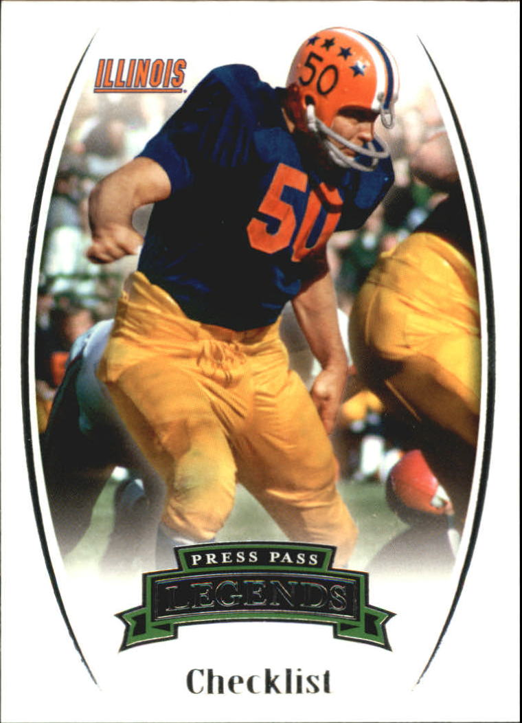 2007 Press Pass Legends #100 Dick Butkus CL